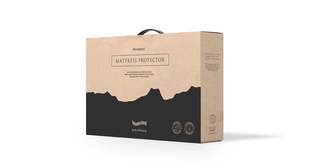 Wonderland madrassbeskytter emballasje