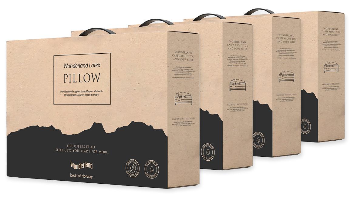 Wonderland hodepute - Ny miljøvennlig emballasje